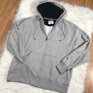 Champion Men's large gray zip up hoodie size large
